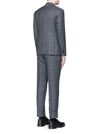 Back View - Click To Enlarge - THOM BROWNE - Glen plaid hairline overcheck wool suit