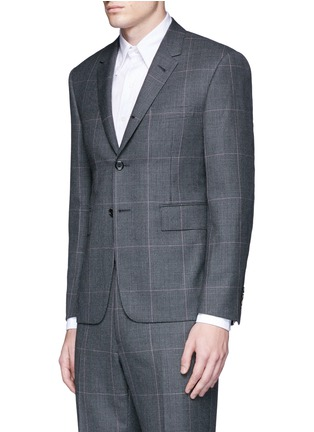 Front View - Click To Enlarge - THOM BROWNE - Glen plaid hairline overcheck wool suit