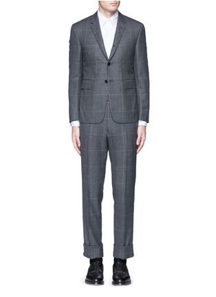 Main View - Click To Enlarge - Thom Browne - Glen plaid hairline overcheck wool suit