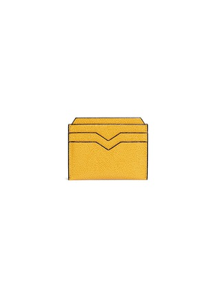 Main View - Click To Enlarge - Valextra - Leather card case – Ochre