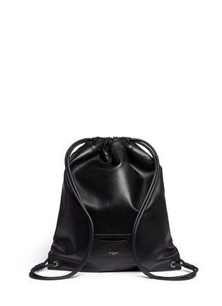 Back View - Click To Enlarge - Givenchy - Leather drawstring bag