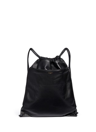 Main View - Click To Enlarge - Givenchy - Leather drawstring bag