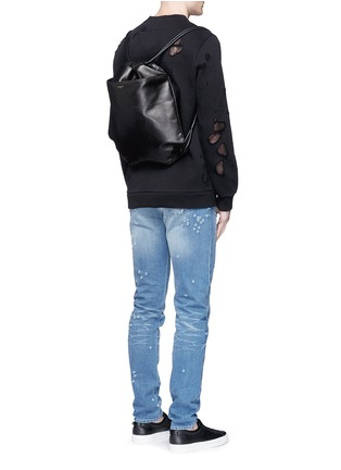 Figure View - Click To Enlarge - Givenchy - Leather drawstring bag