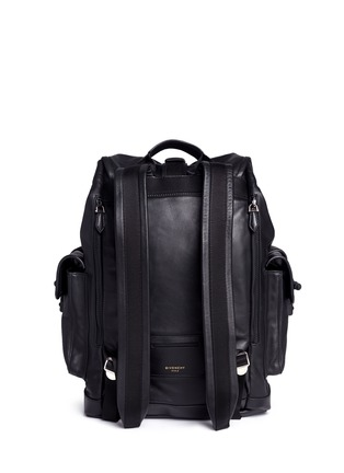 Back View - Click To Enlarge - GIVENCHY - 'Obsedia' leather backpack