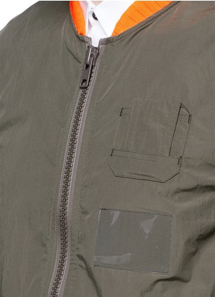 Detail View - Click To Enlarge - KOLOR - Shirred seam military jacket