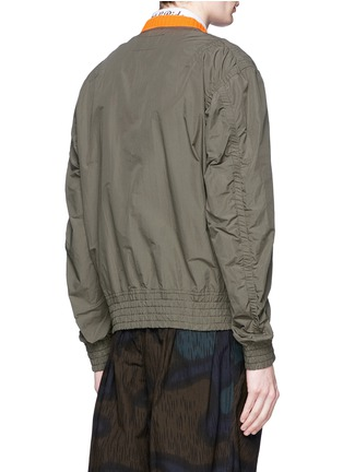 Back View - Click To Enlarge - kolor - Shirred seam military jacket