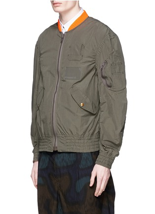Front View - Click To Enlarge - KOLOR - Shirred seam military jacket