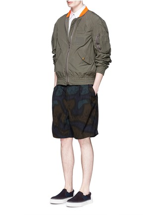 Figure View - Click To Enlarge - kolor - Shirred seam military jacket