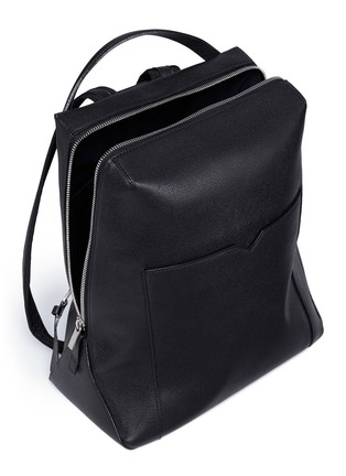 Detail View - Click To Enlarge - Valextra - 'V Line' leather backpack