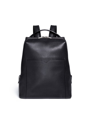 Main View - Click To Enlarge - Valextra - 'V Line' leather backpack