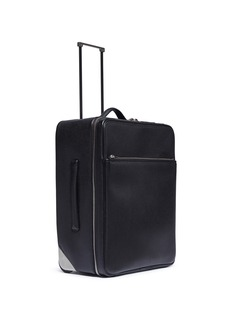 Valextra Leather trolley – Black