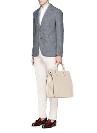 Figure View - Click To Enlarge - GIORGIO ARMANI Bags - Saffiano leather shopper tote