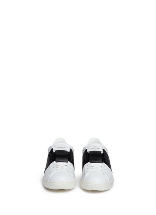 Front View - Click To Enlarge - Valentino - Colourblock leather stud sneakers