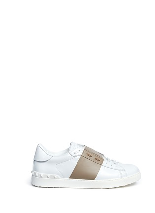 Main View - Click To Enlarge - Valentino - Colourblock leather sneakers