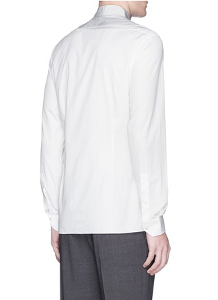 Back View - Click To Enlarge - Lanvin - Grosgrain collar cotton poplin shirt