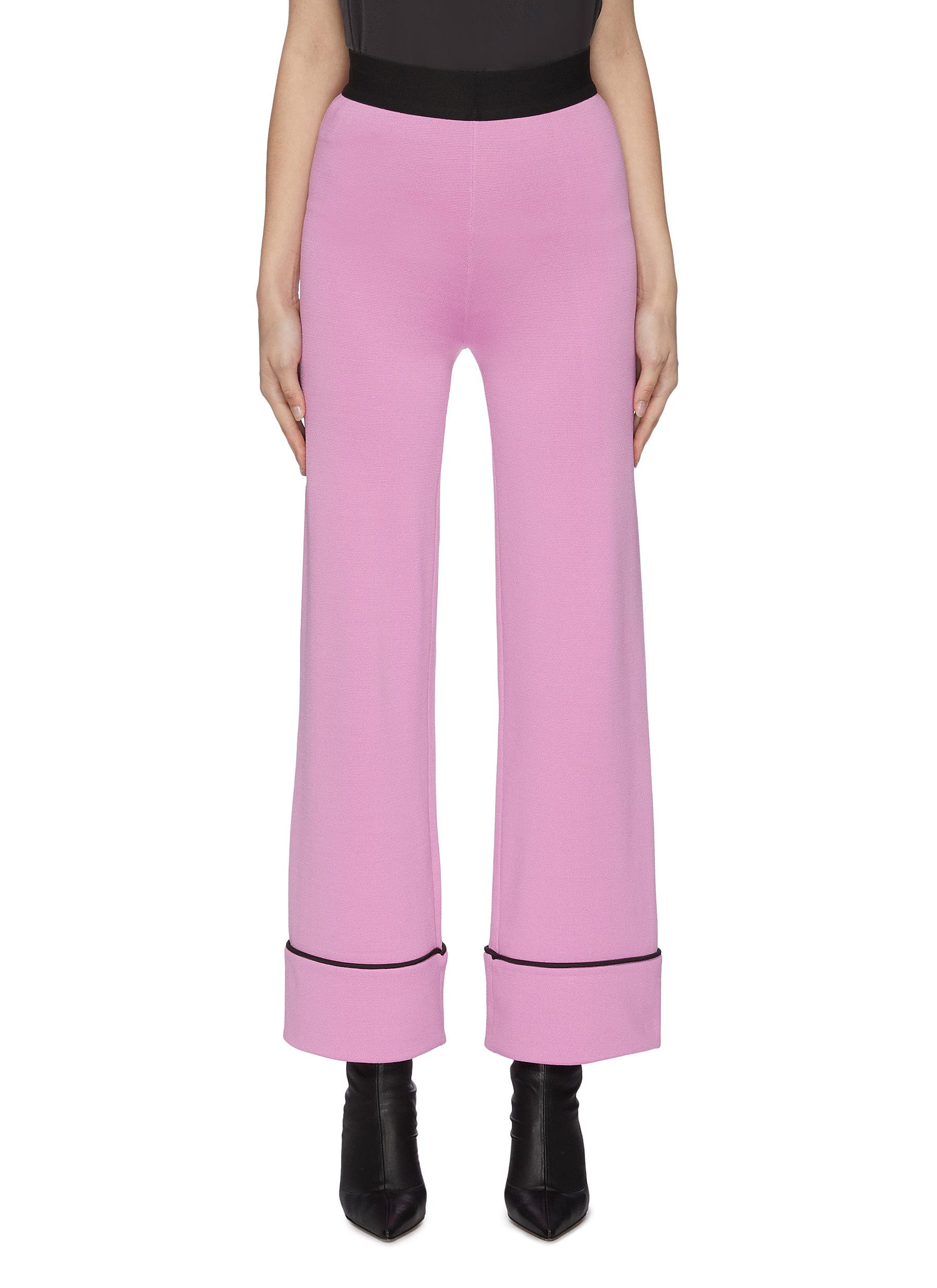 shop Ph5 'Clover' wide leg contrast seam pants online