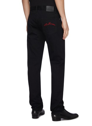 Back View - Click To Enlarge - ALEXANDER MCQUEEN - Logo embroidered jeans