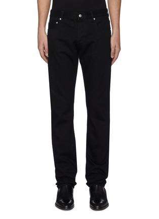 Main View - Click To Enlarge - ALEXANDER MCQUEEN - Logo embroidered jeans