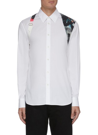 Main View - Click To Enlarge - ALEXANDER MCQUEEN - Floral print harness shirt