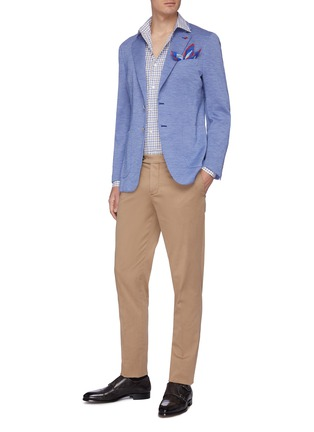 Figure View - Click To Enlarge - ISAIA - 'Sailor' notch lapel wool jersey casual blazer