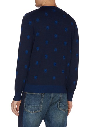 Back View - Click To Enlarge - ALEXANDER MCQUEEN - Skull intarsia sweater