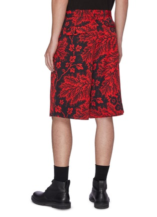 Back View - Click To Enlarge - ALEXANDER MCQUEEN - Floral Print Shorts