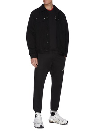 Figure View - Click To Enlarge - ALEXANDER MCQUEEN - Straight leg jogging pants