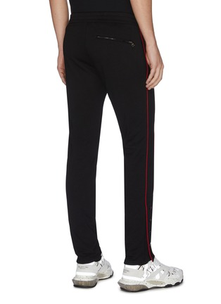Back View - Click To Enlarge - ALEXANDER MCQUEEN - Contrast outseam stripe jogging pants