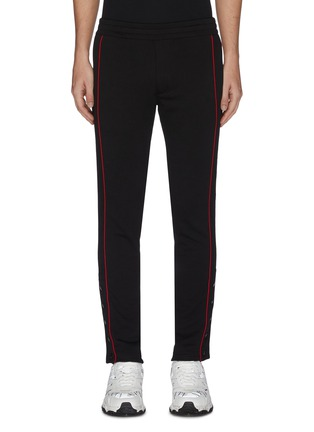 Main View - Click To Enlarge - ALEXANDER MCQUEEN - Contrast outseam stripe jogging pants