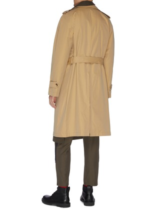 Back View - Click To Enlarge - ALEXANDER MCQUEEN - Asymmetric tailored trench coat