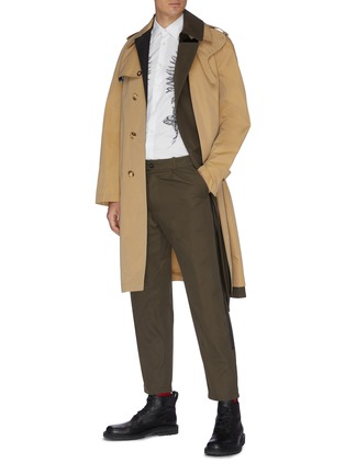 Figure View - Click To Enlarge - ALEXANDER MCQUEEN - Asymmetric tailored trench coat