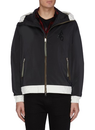 Main View - Click To Enlarge - ALEXANDER MCQUEEN - Monogram hooded track jacket