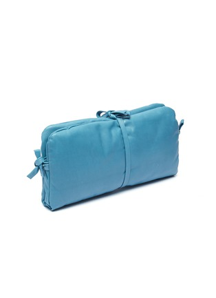 Detail View - Click To Enlarge - A.W.A.K.E. MODE - 'Maud' tie padded leather clutch
