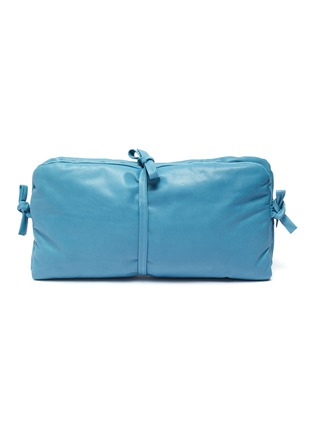 Main View - Click To Enlarge - A.W.A.K.E. MODE - 'Maud' tie padded leather clutch