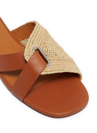 Detail View - Click To Enlarge - CLERGERIE - Braided raffia slippers