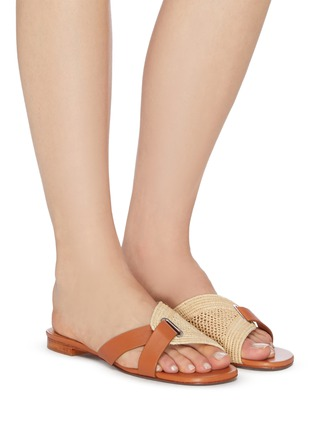 Figure View - Click To Enlarge - CLERGERIE - Braided raffia slippers