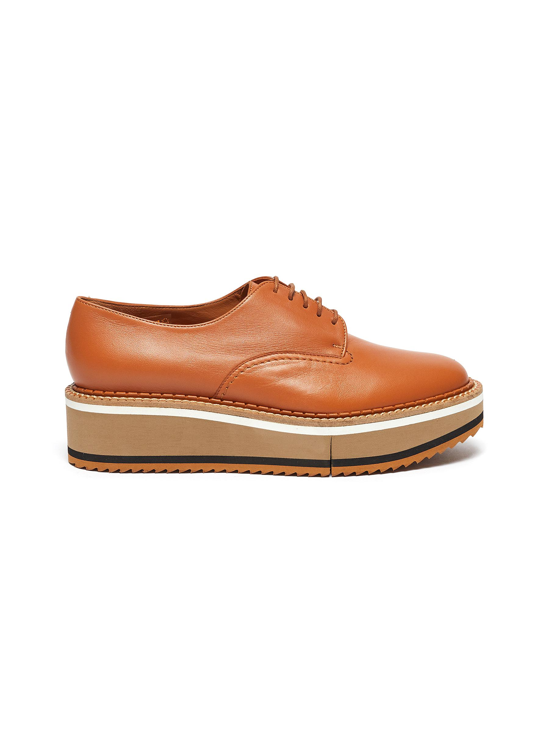 Clergerie Flats Berlin lace up flatform loafers