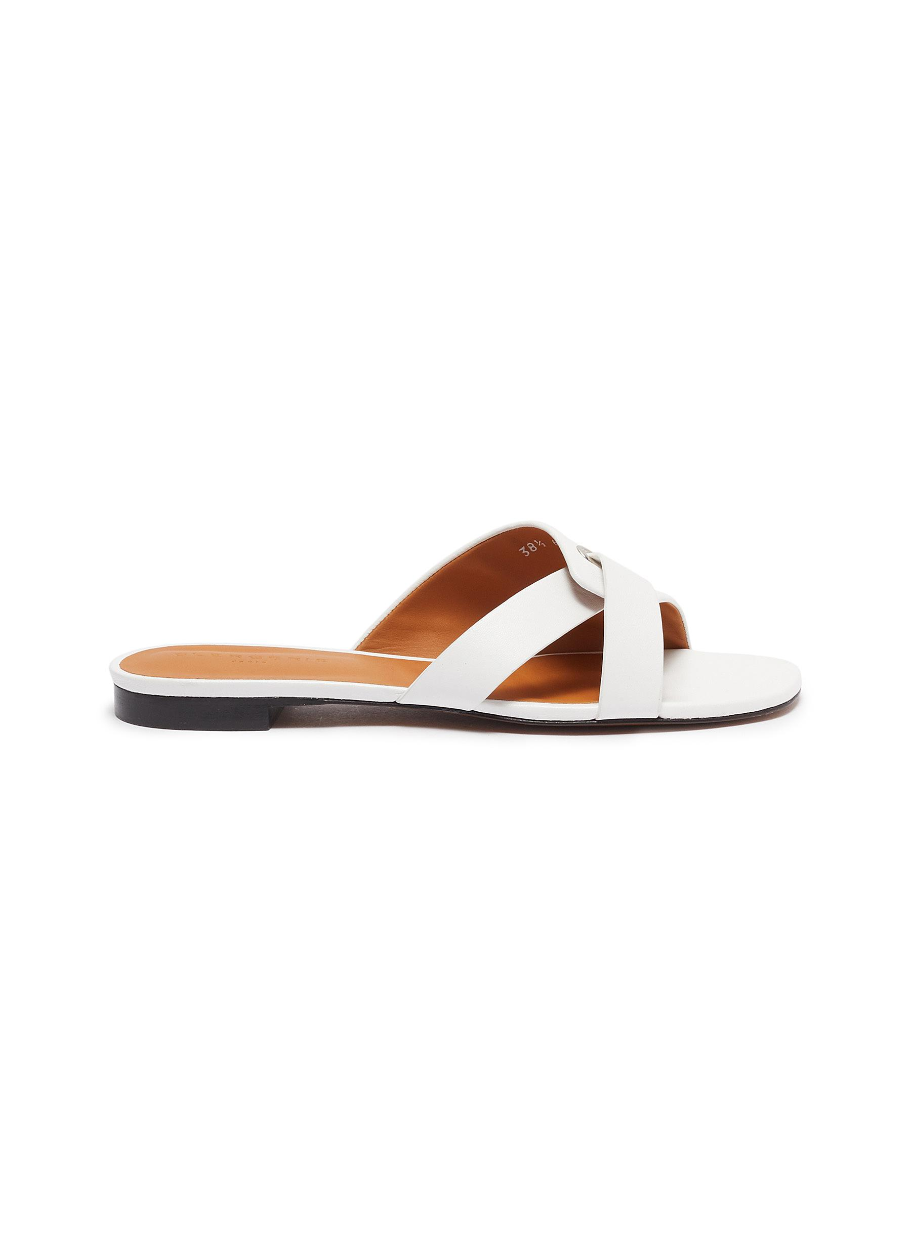 Clergerie Flats Iston strappy slide flats
