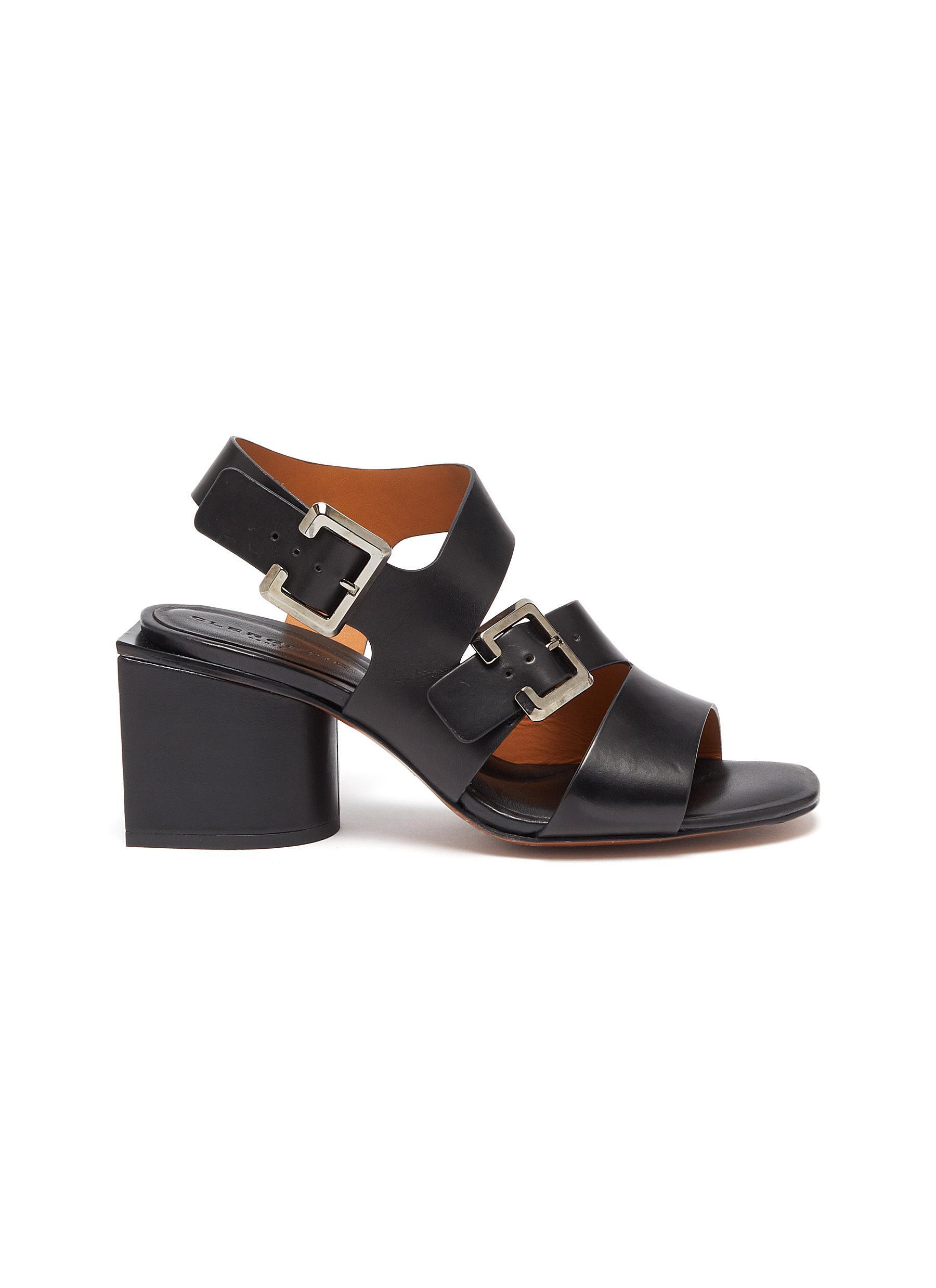 Clergerie Mid Heels Ellie block heel leather sandals