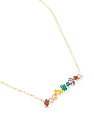 Detail View - Click To Enlarge - CZ BY KENNETH JAY LANE - Cubic zirconia scatter bar necklace