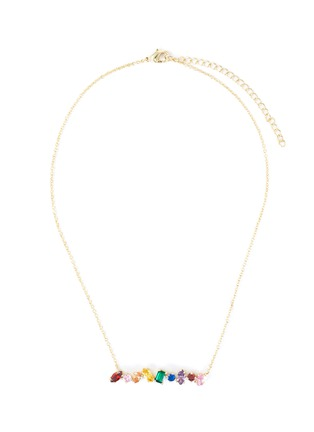 Main View - Click To Enlarge - CZ BY KENNETH JAY LANE - Cubic zirconia scatter bar necklace