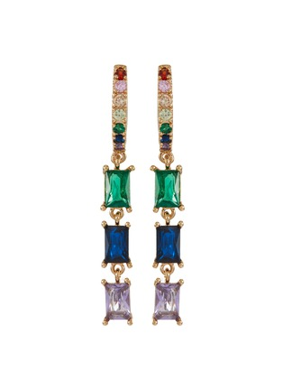 Main View - Click To Enlarge - CZ BY KENNETH JAY LANE - Cubic zirconia scatter drop earrings