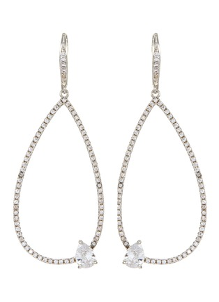Main View - Click To Enlarge - CZ BY KENNETH JAY LANE - Cubic zirconia teardrop earrings