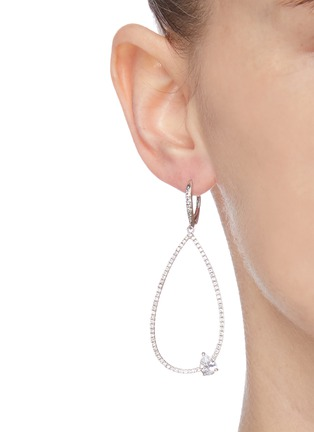 Figure View - Click To Enlarge - CZ BY KENNETH JAY LANE - Cubic zirconia teardrop earrings