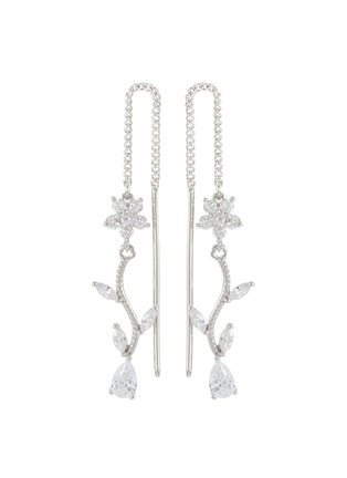 Main View - Click To Enlarge - CZ BY KENNETH JAY LANE - Cubic zirconia floral vine drop earrings