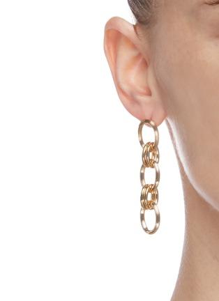 Figure View - Click To Enlarge - PHILIPPE AUDIBERT - 'Byron' interlinked drop earrings