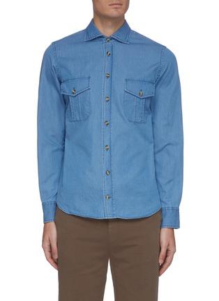 Main View - Click To Enlarge - CHRISTIAN KIMBER - Faded denim shirt