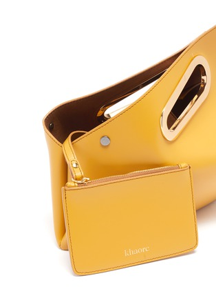 Detail View - Click To Enlarge - KHAORE - Athaarah' cut out top handle leather clutch