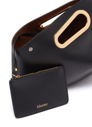 Detail View - Click To Enlarge - KHAORE - 'Athaarah' cut out top handle leather clutch
