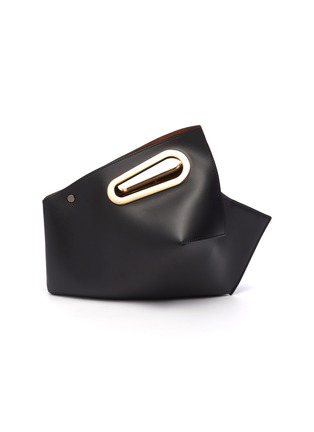 Main View - Click To Enlarge - KHAORE - 'Athaarah' cut out top handle leather clutch